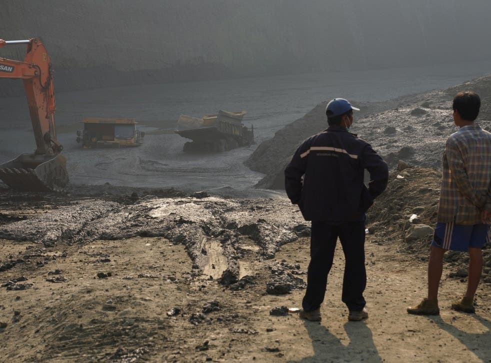 More than 50 people are believed to have died in a mudslide at a jade mining site in Hpakant, Kachin state, Myanmar, 22 April 2019.