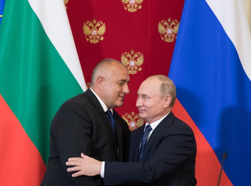 Energy ties: Vladimir Putin and Bulgarian prime minister Boyko Borissov