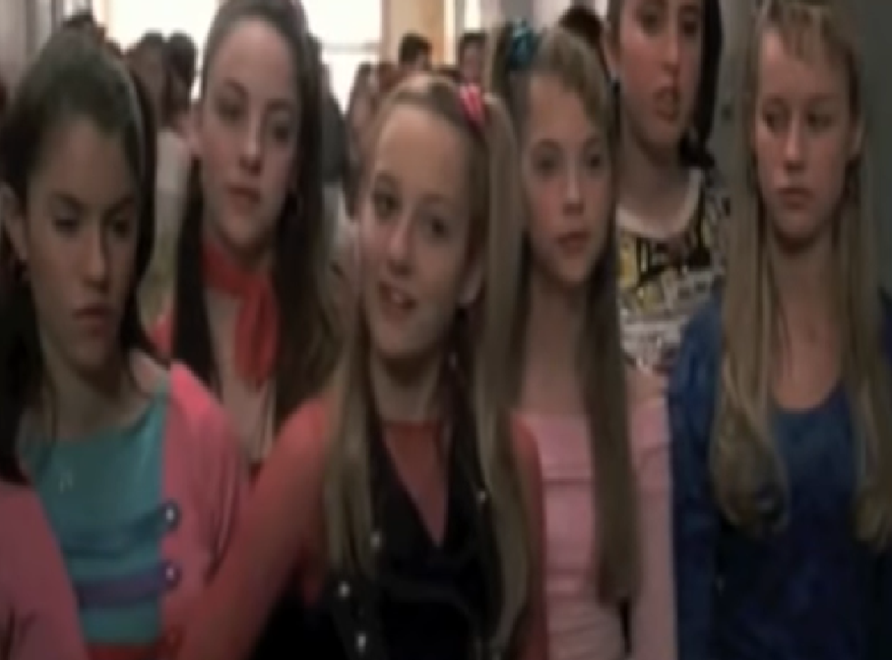 Brie Larson (far right) as a Six Chick in 13 Going on 30