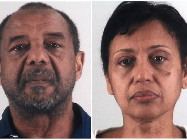 Mohamed Toure, left, and Denise Cros-Toure, accused of enslaving a Guinean woman for 16 years were sentenced to seven years in prison each for enslaving a woman for 16 years.