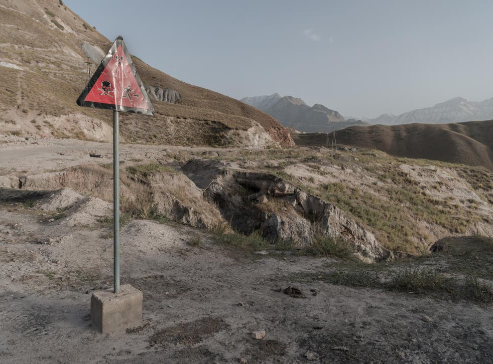 The entrance to the mine in Min Kush