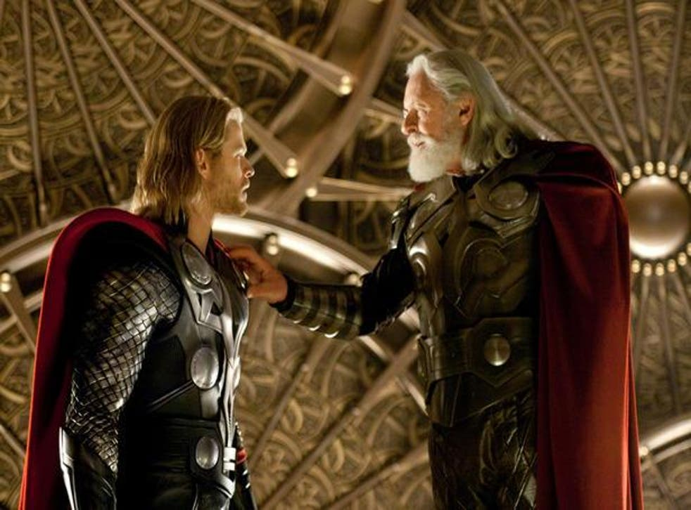 Chris Hemsworth and Anthony Hopkins in 'Thor' (Marvel)