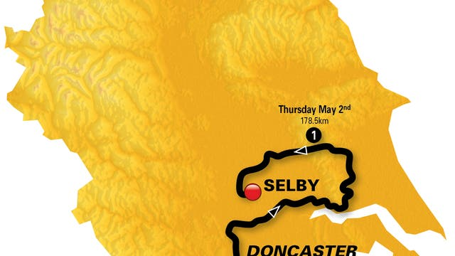 Selby to Doncaster, 1.05pm start, 182.5km.
