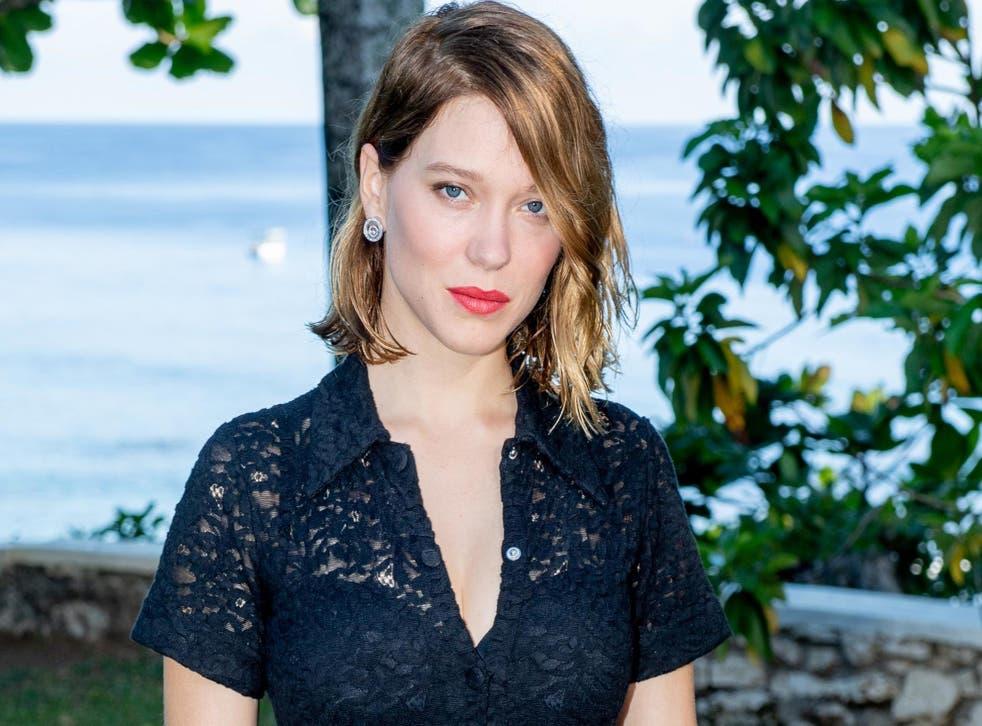 Léa Seydoux attends the Bond 25 film launch on 25 April, 2019 in Montego Bay, Jamaica.