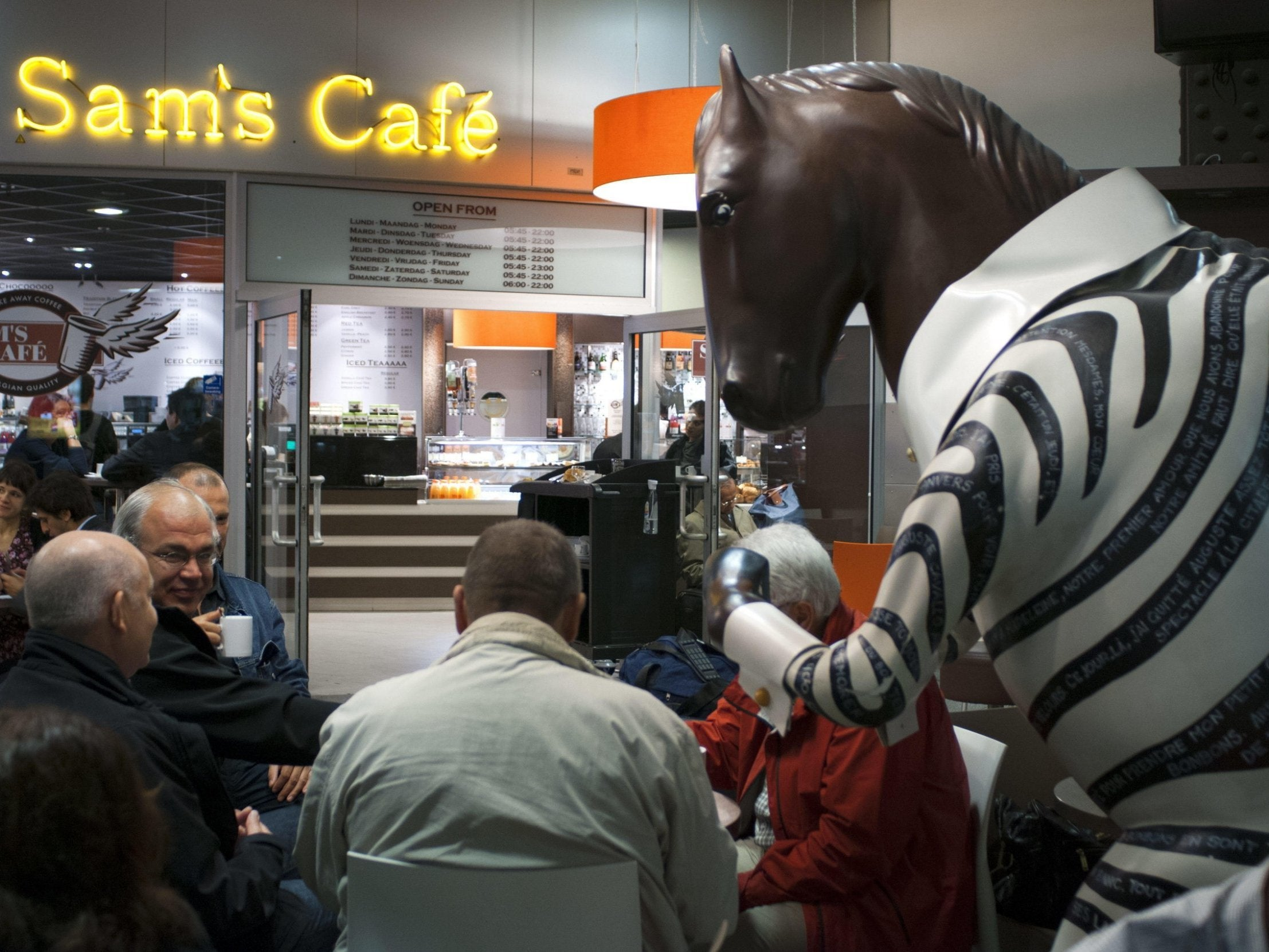 Beloved horse-zebra statue at Brussels station saved after outcry