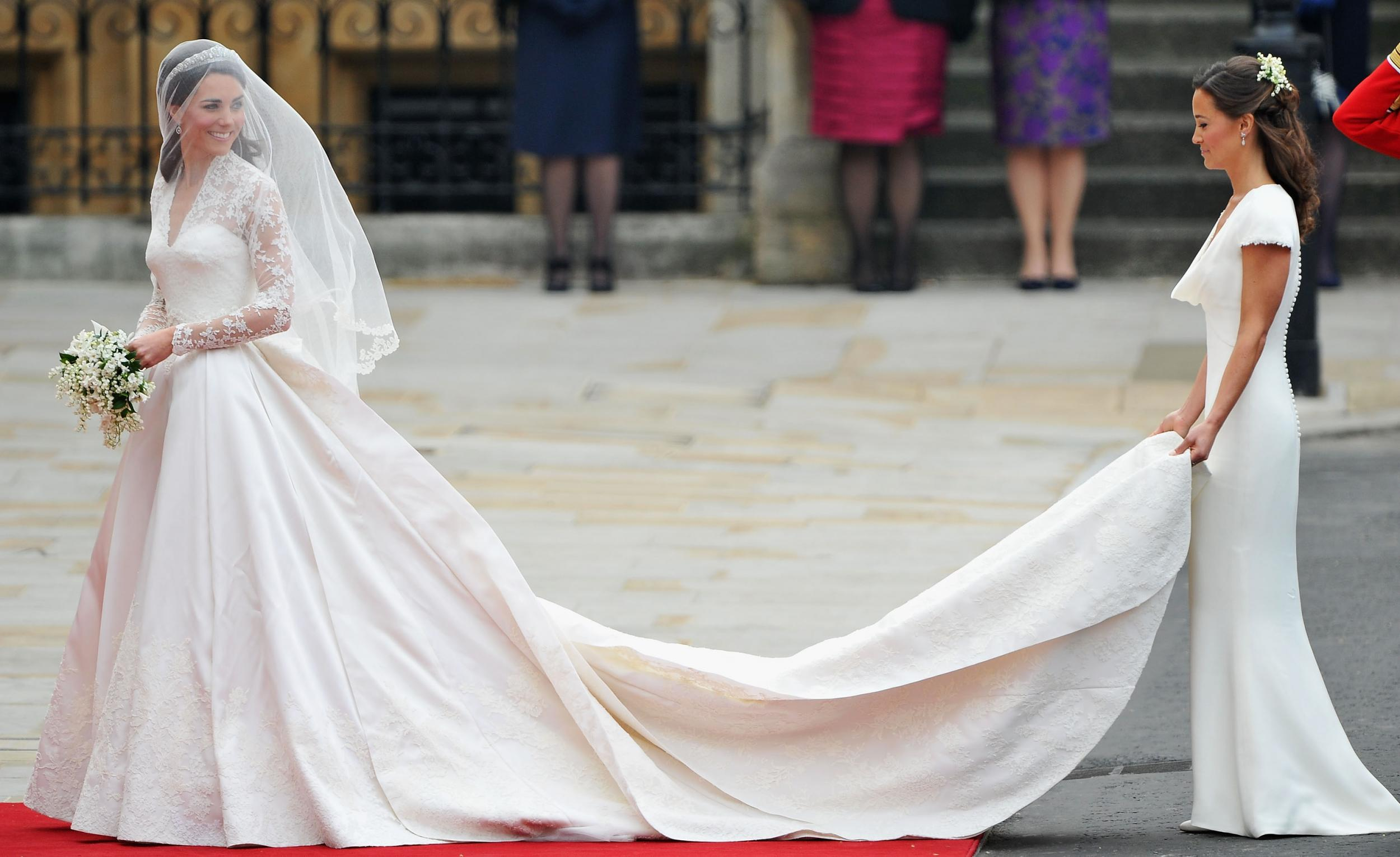 First look at the wedding dress