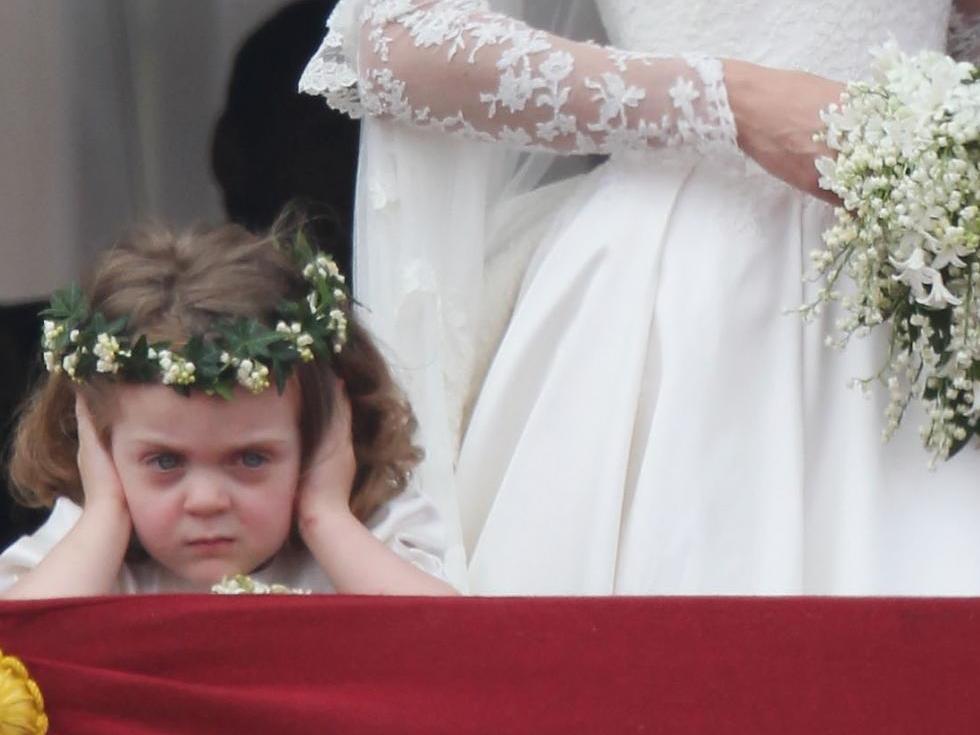 The disgruntled flower girl