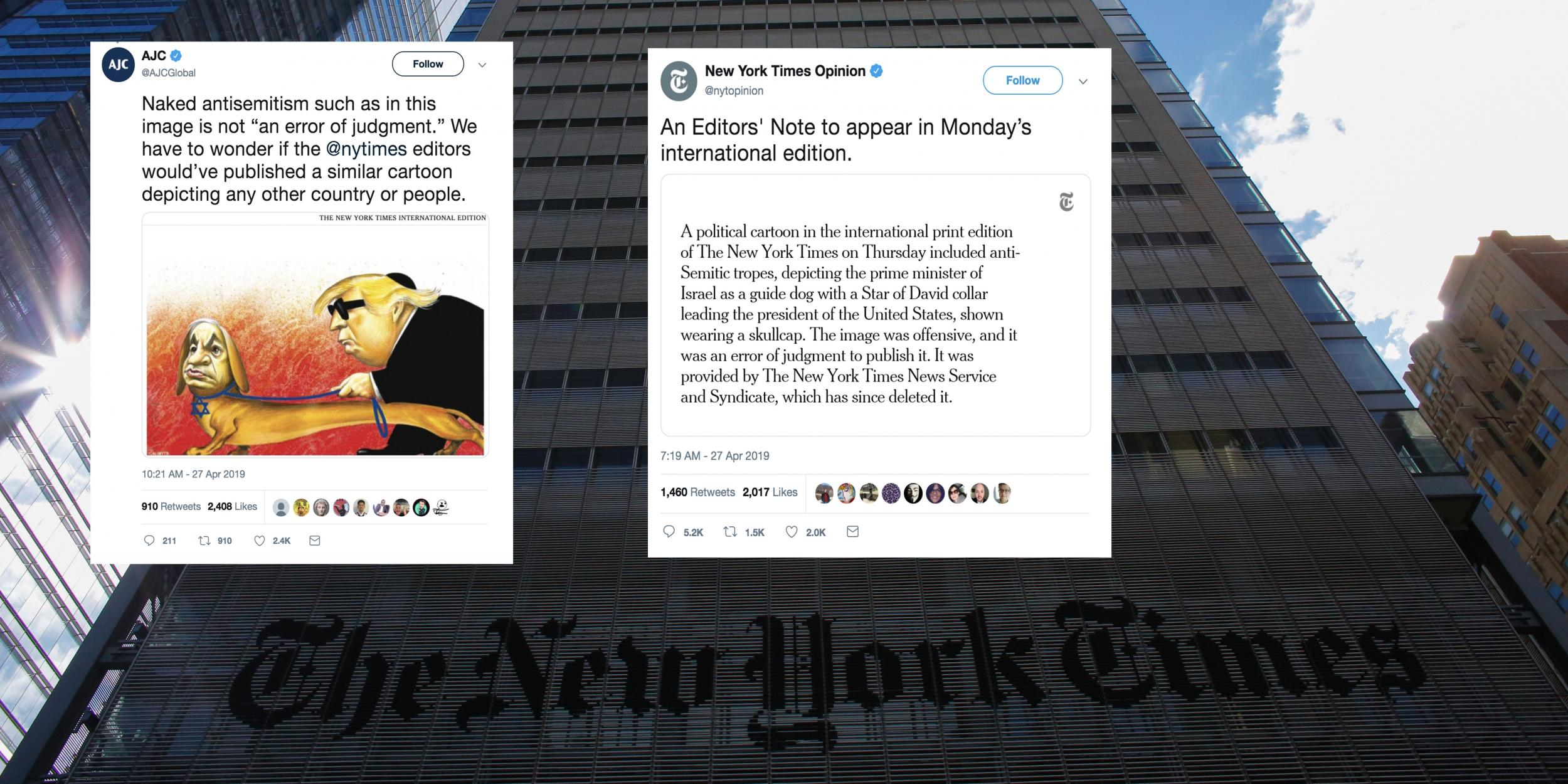 New York Times Paper Apologises To Jewish Association For