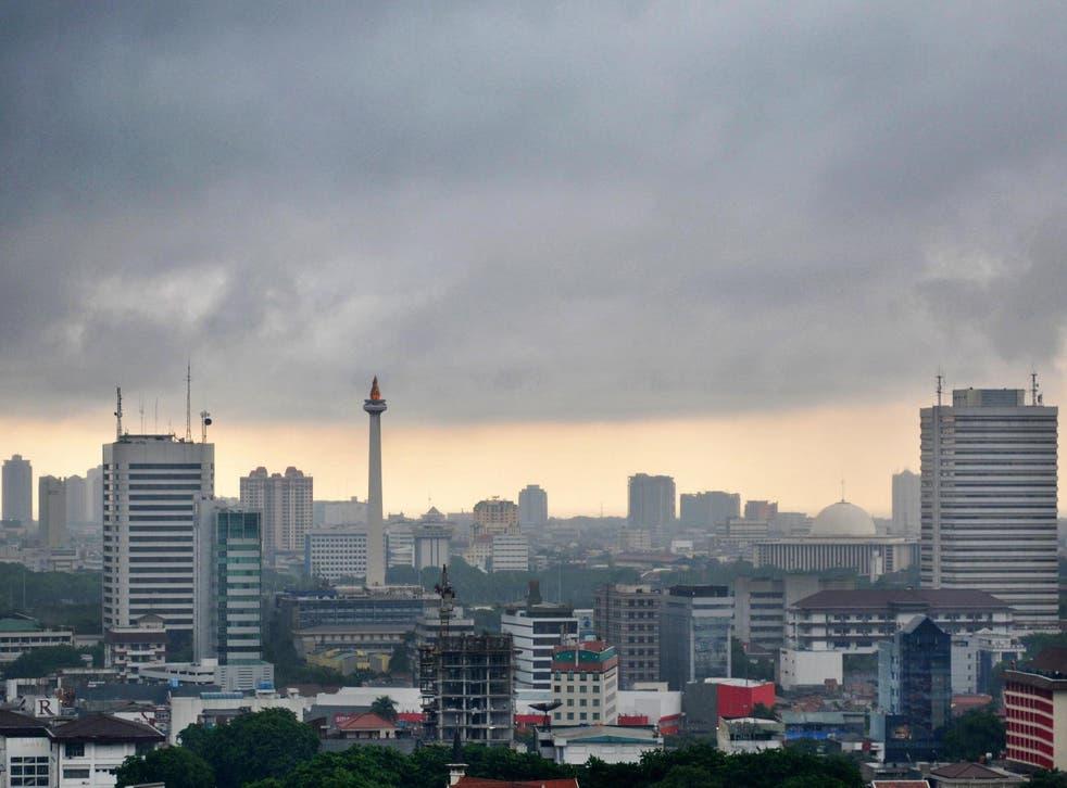 Jakarta's skyline.