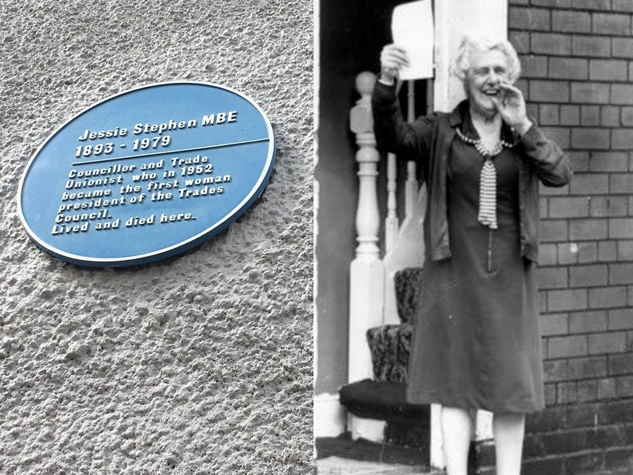 BT telegraph pole removed for blocking plaque for leading suffragette Jessie Stephen