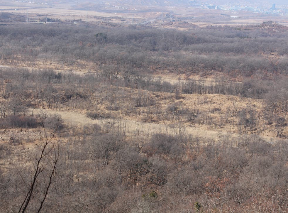 The new hiking trails will take in the barren landscape of the DMZ