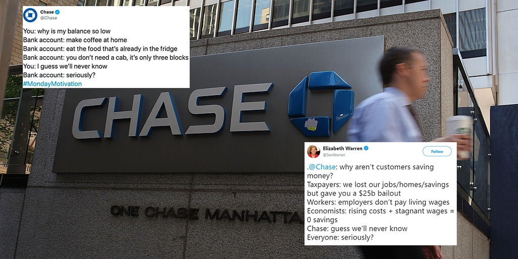 Chase Bank Criticised For Tweet That Appeared To Mock Struggling Customers Indy100