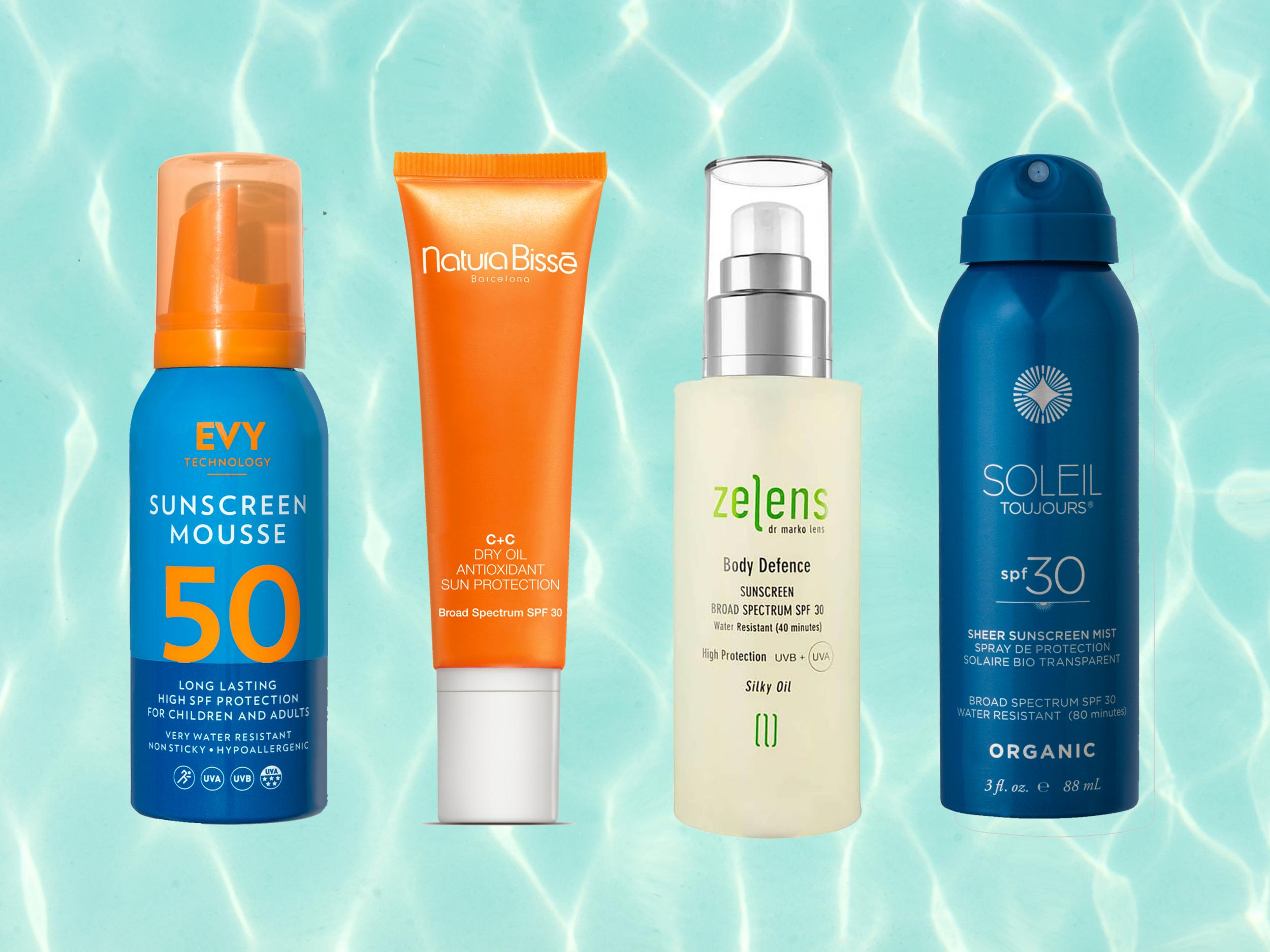 d1d5b1d5051 Best sunscreens for the body with SPF and UV protection that lasts in water