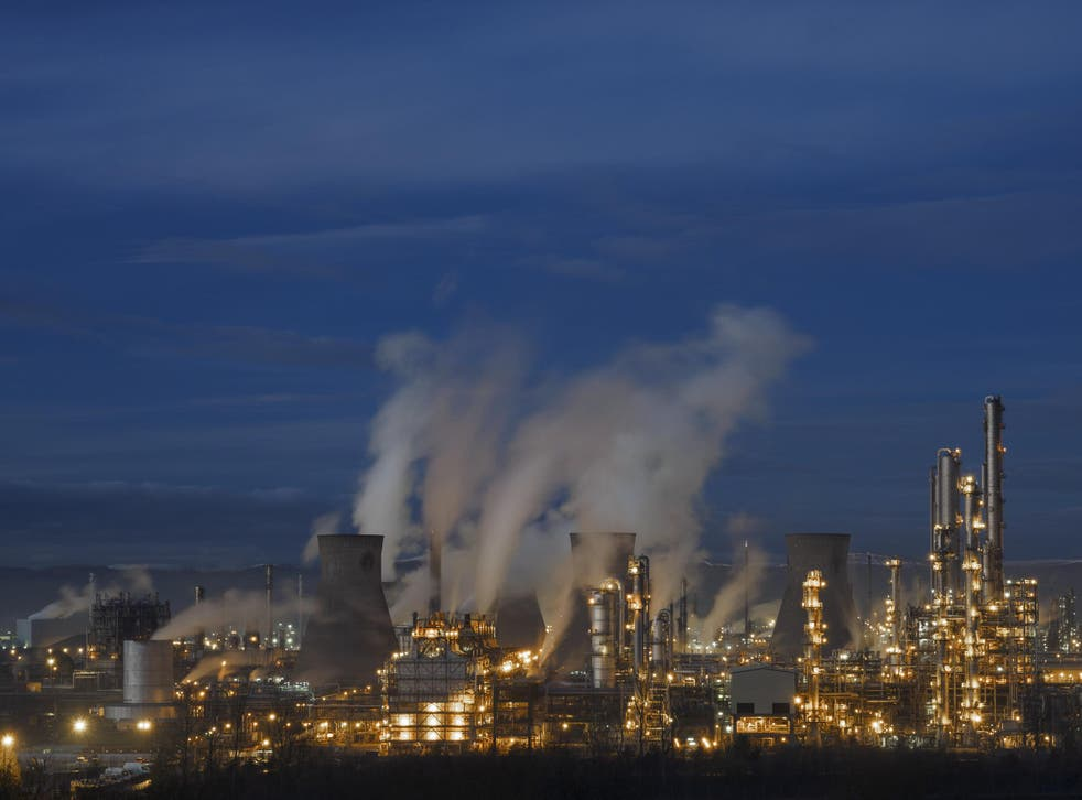The Ineos petrochemical plant at Grangemouth in Scotland