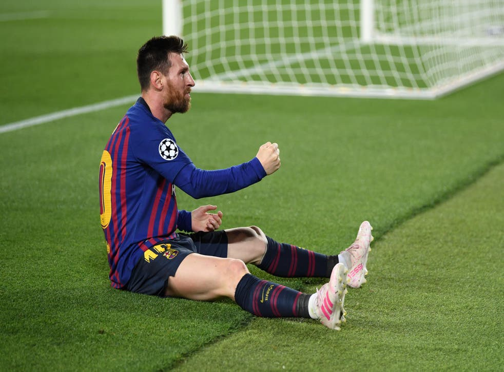 Lionel Messi scored twice to kill off Liverpool on the night