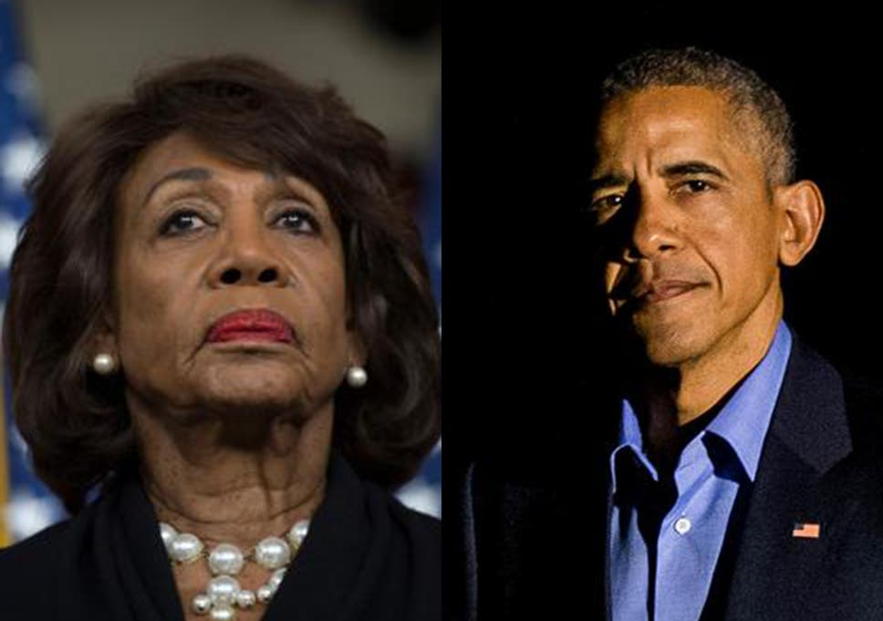 Image result for maxine waters obama