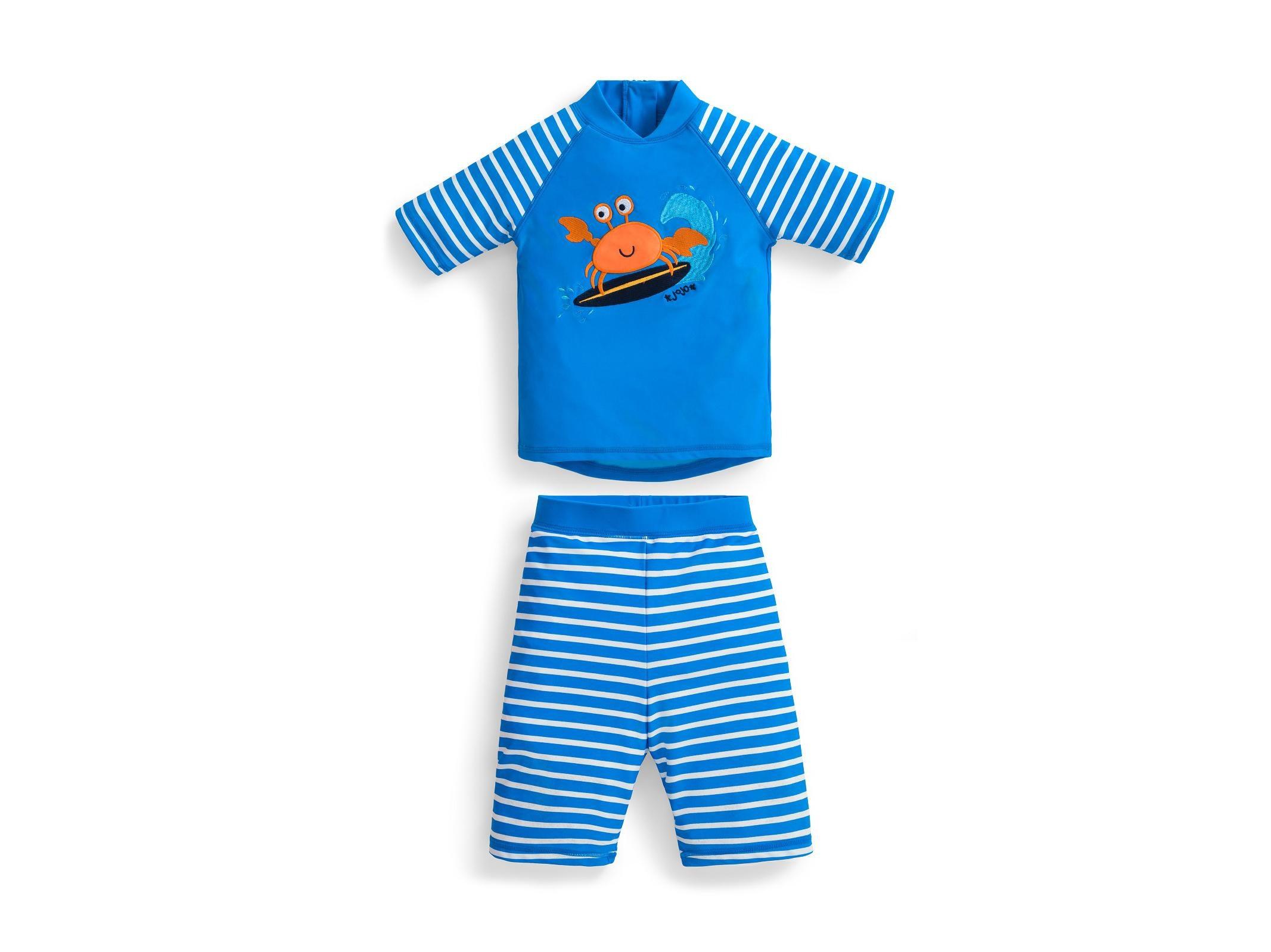 Baby Kids Boy Summer Beach Swimwear Swimsuit Swimming Costume Trunks+Hat Set Baby Wetsuit