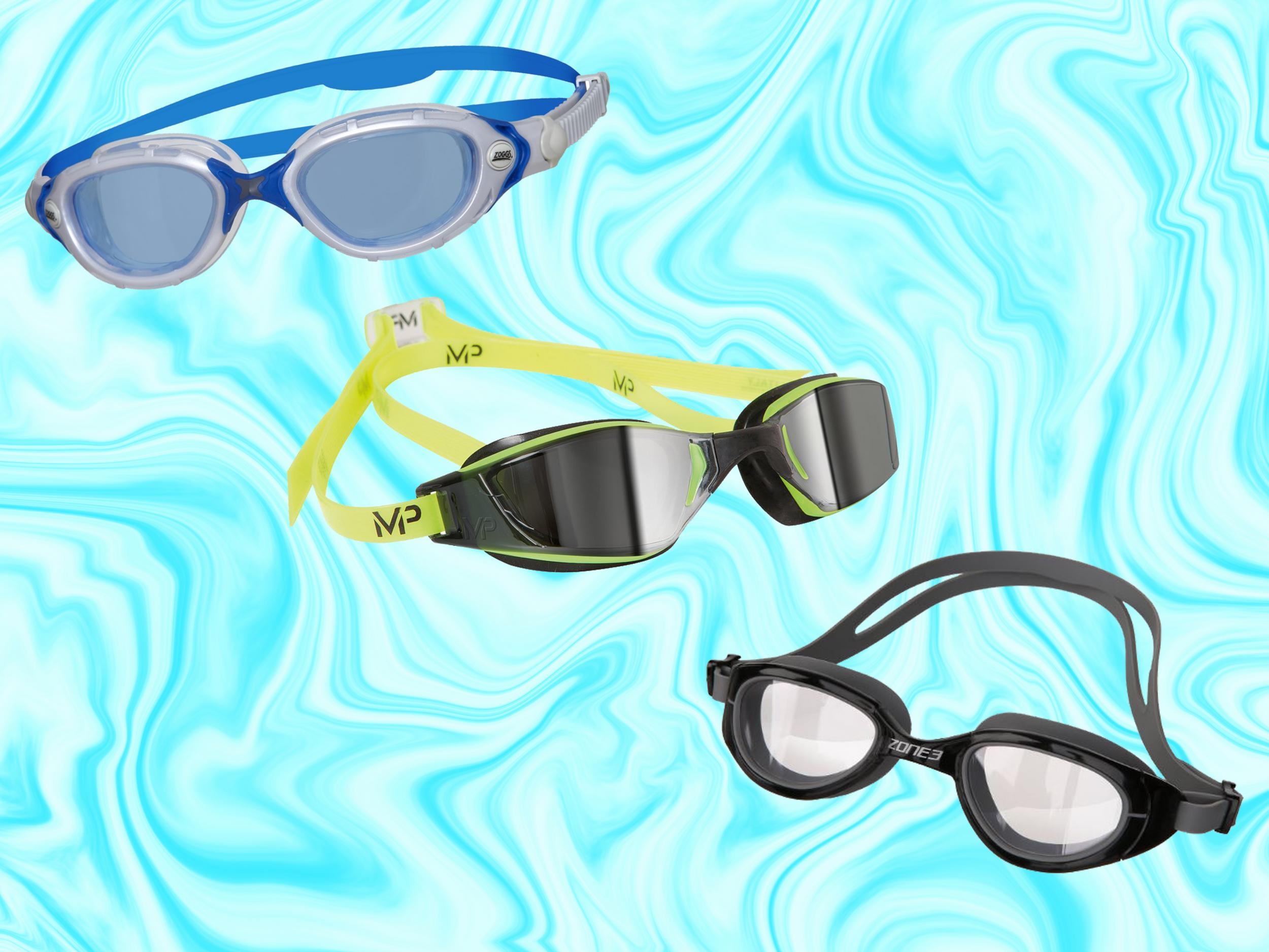 Original Waterproof Anti-fog Glasses Uv Protection Hd Swimming Goggles Eyewear 5 Color Bath Mirrors Bathroom Hardware