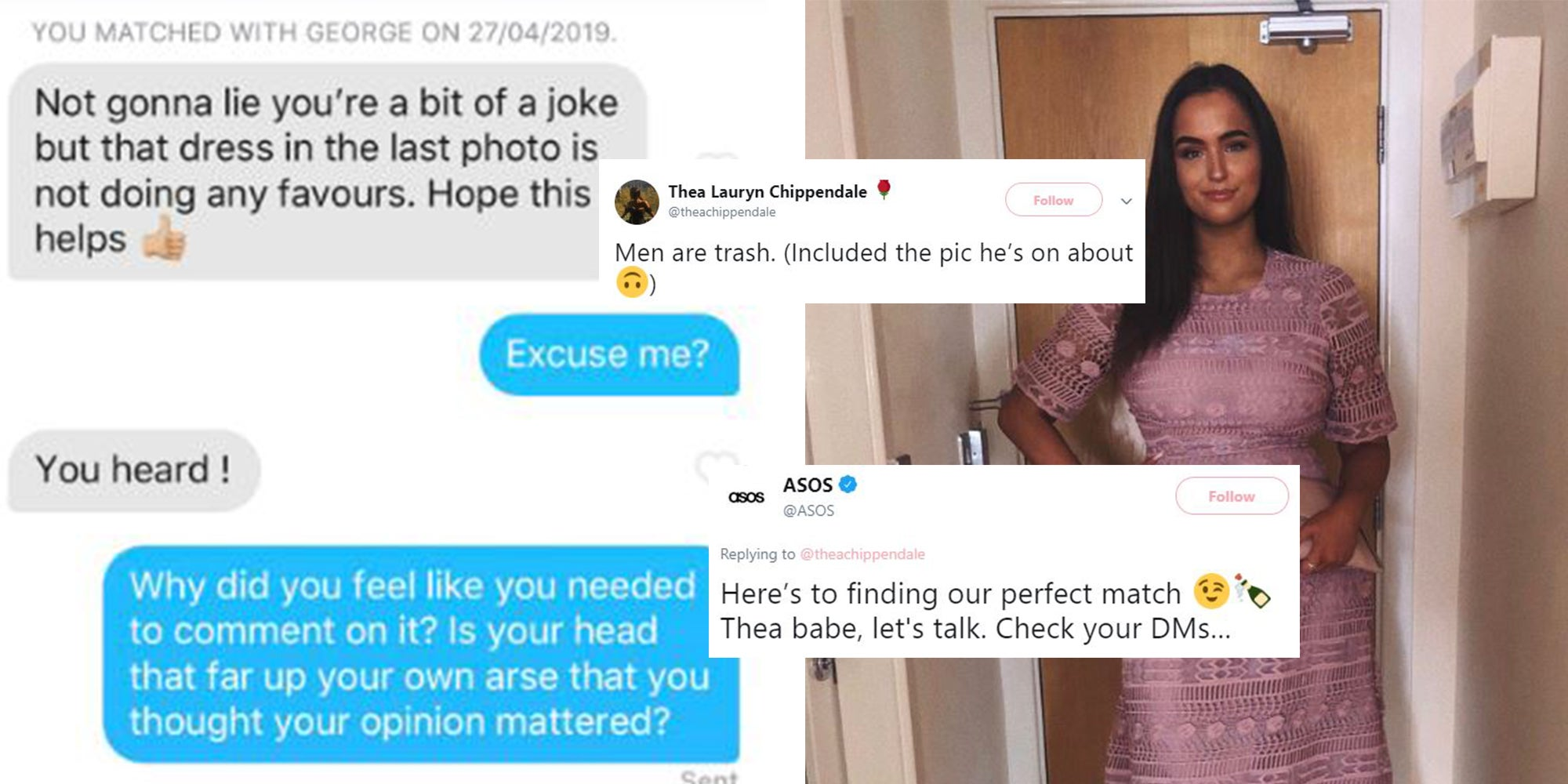ASOS use student as model after man on Tinder mocks her dress | indy100