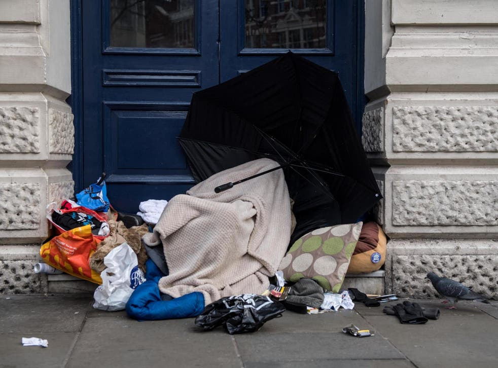 The number of people sleeping rough in the UK doubled between 2012 and 2017
