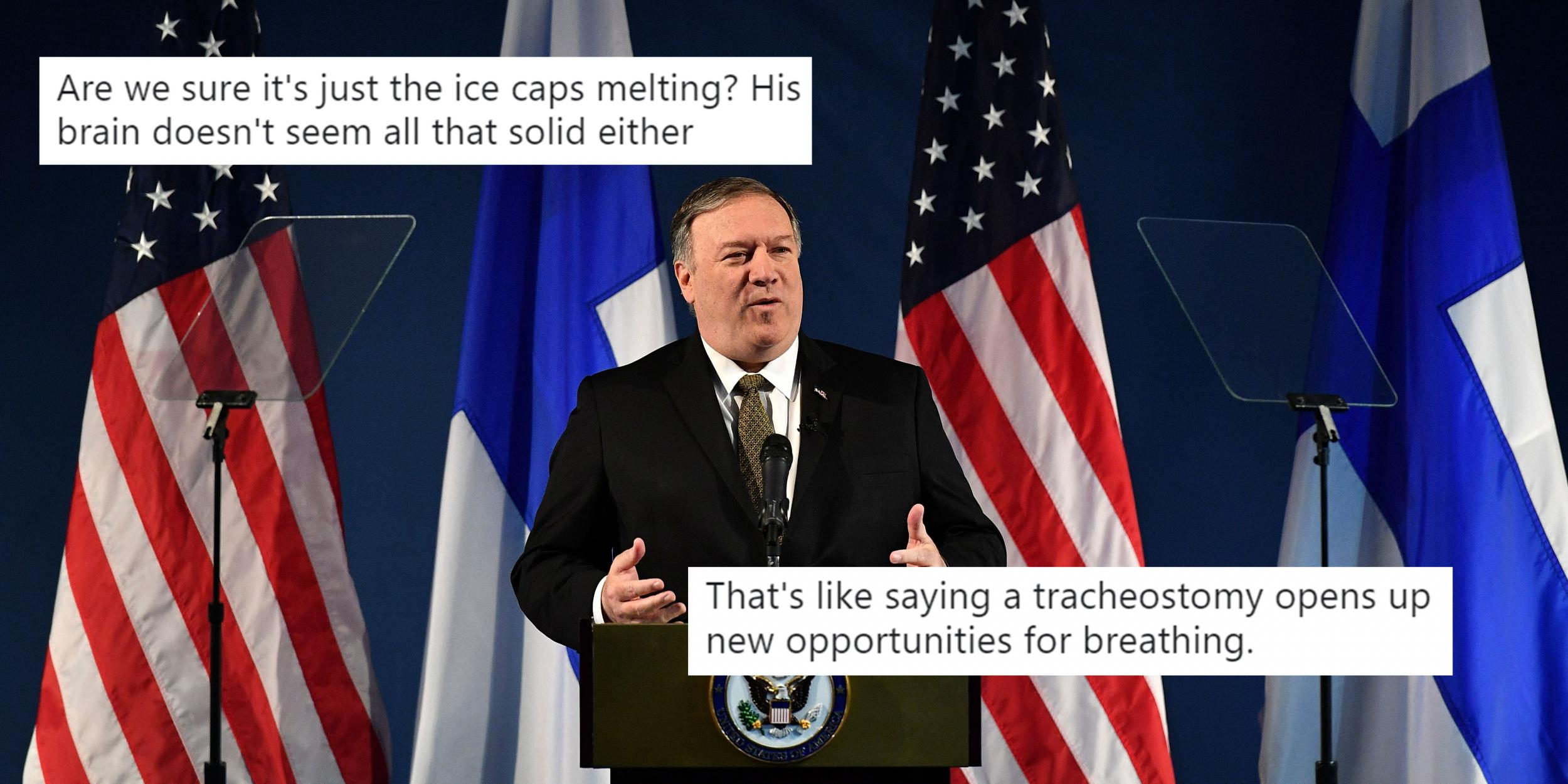 Image result for mike pompeo and climate change