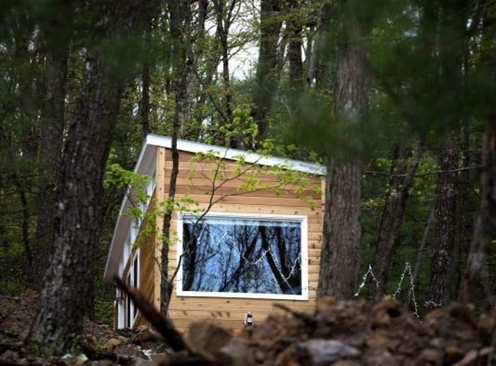 A tiny house in the woods at Lost River Vacations, a retreat launched by three deaf business owners, all graduates of Gallaudet University