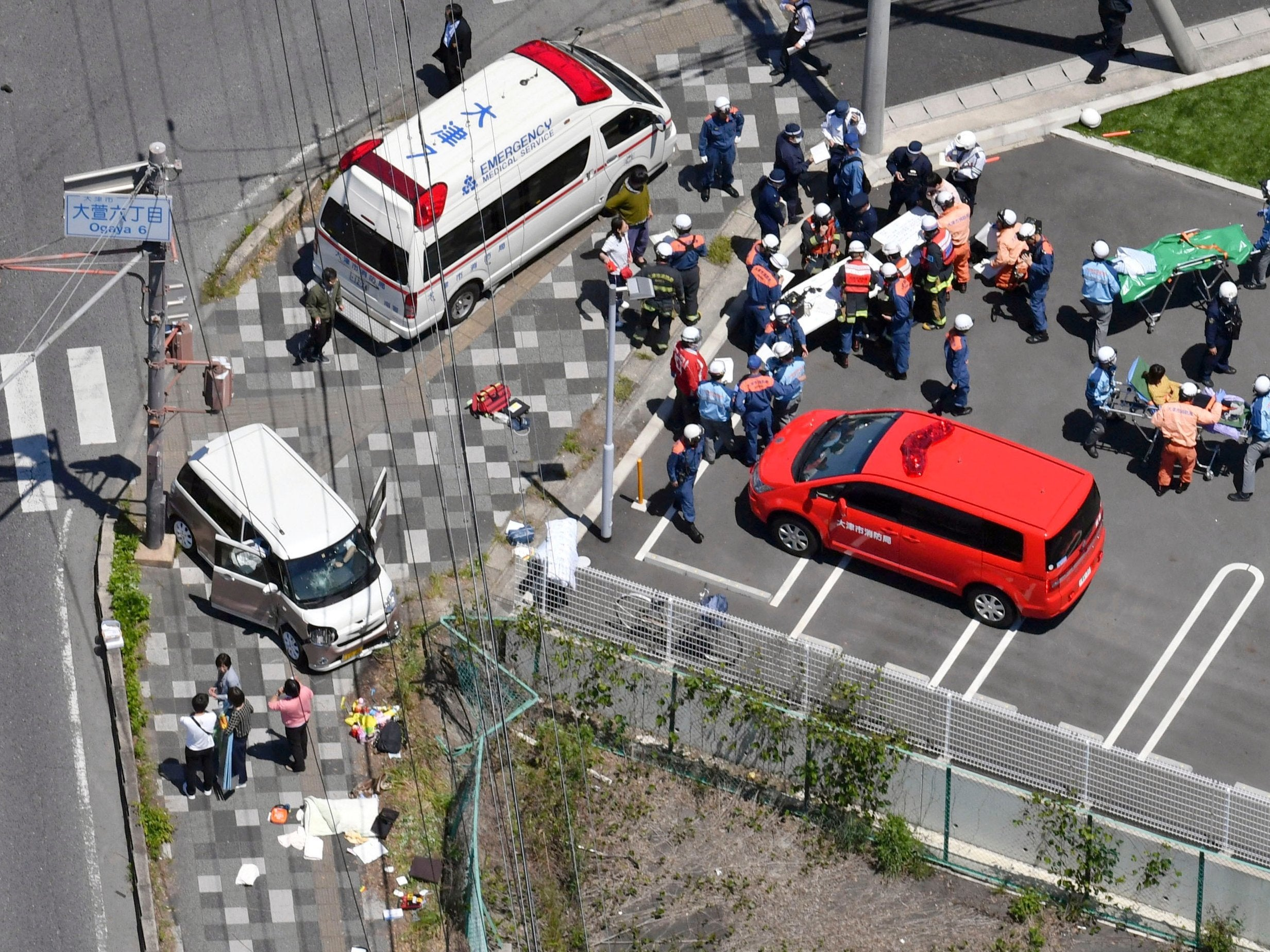 Two children killed after car ploughs into nursery group in Japan