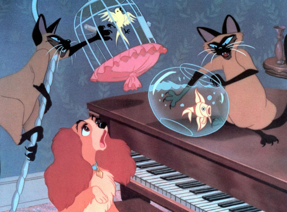 The Siamese cats portrayed in Lady and the Tramp are infamous for playing to racist stereotypes
