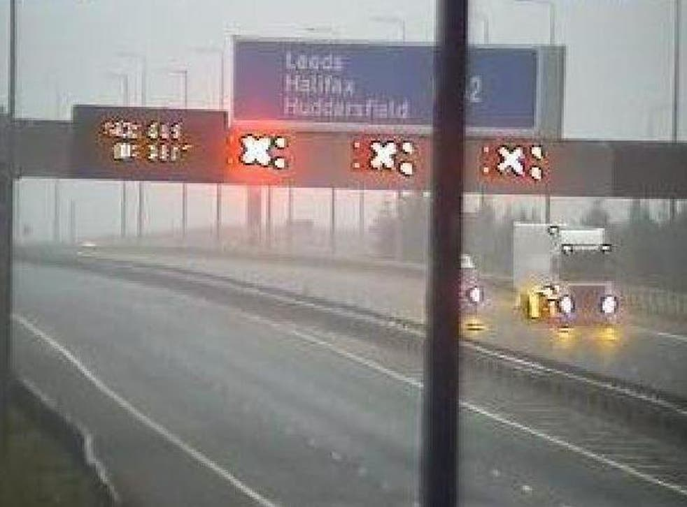 M62 is closed in both directions