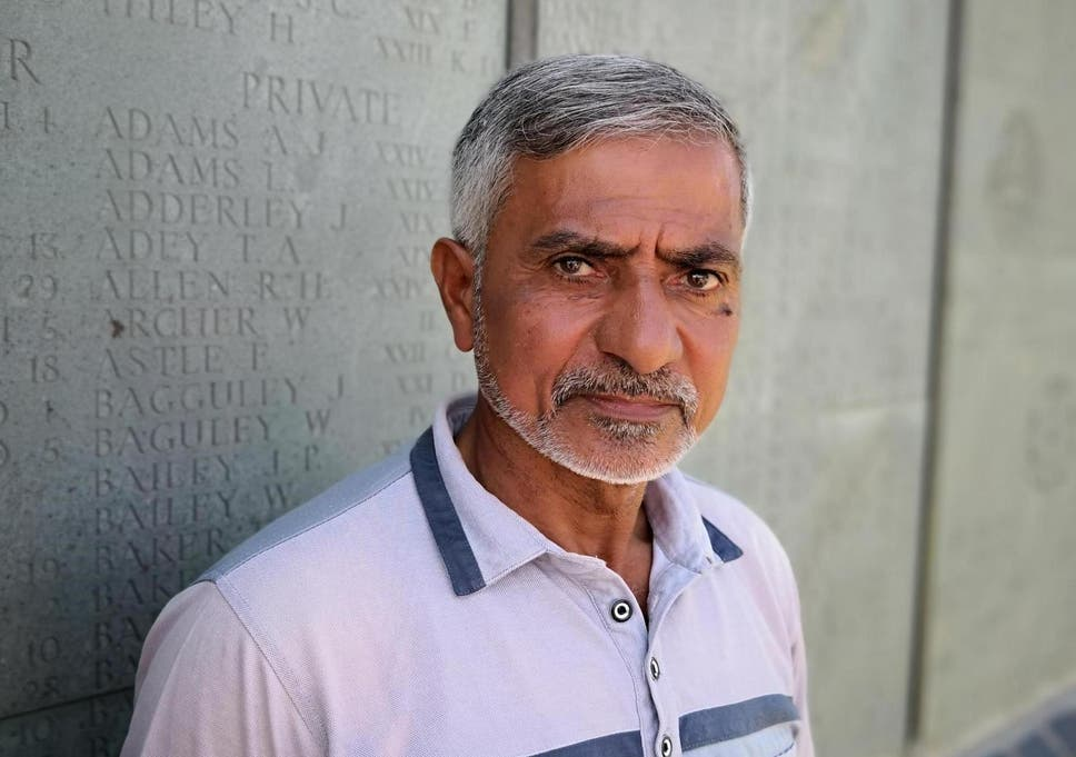 Cemetery keeper Hassan Houteif Mawsa, still safeguarding the British war cemetery at Amara in southern Iraq
