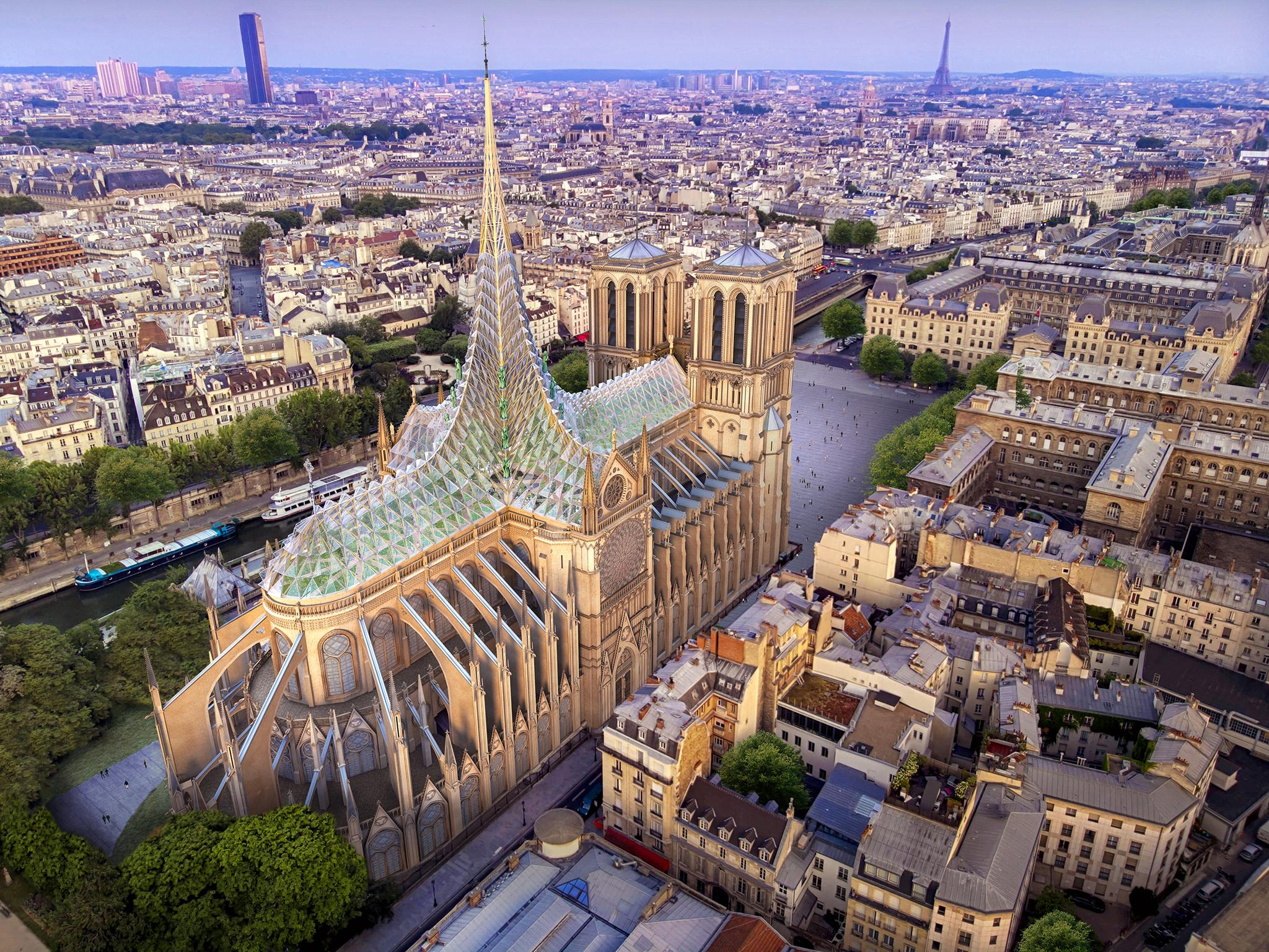 Notre Dame could provide energy for Paris with new roof