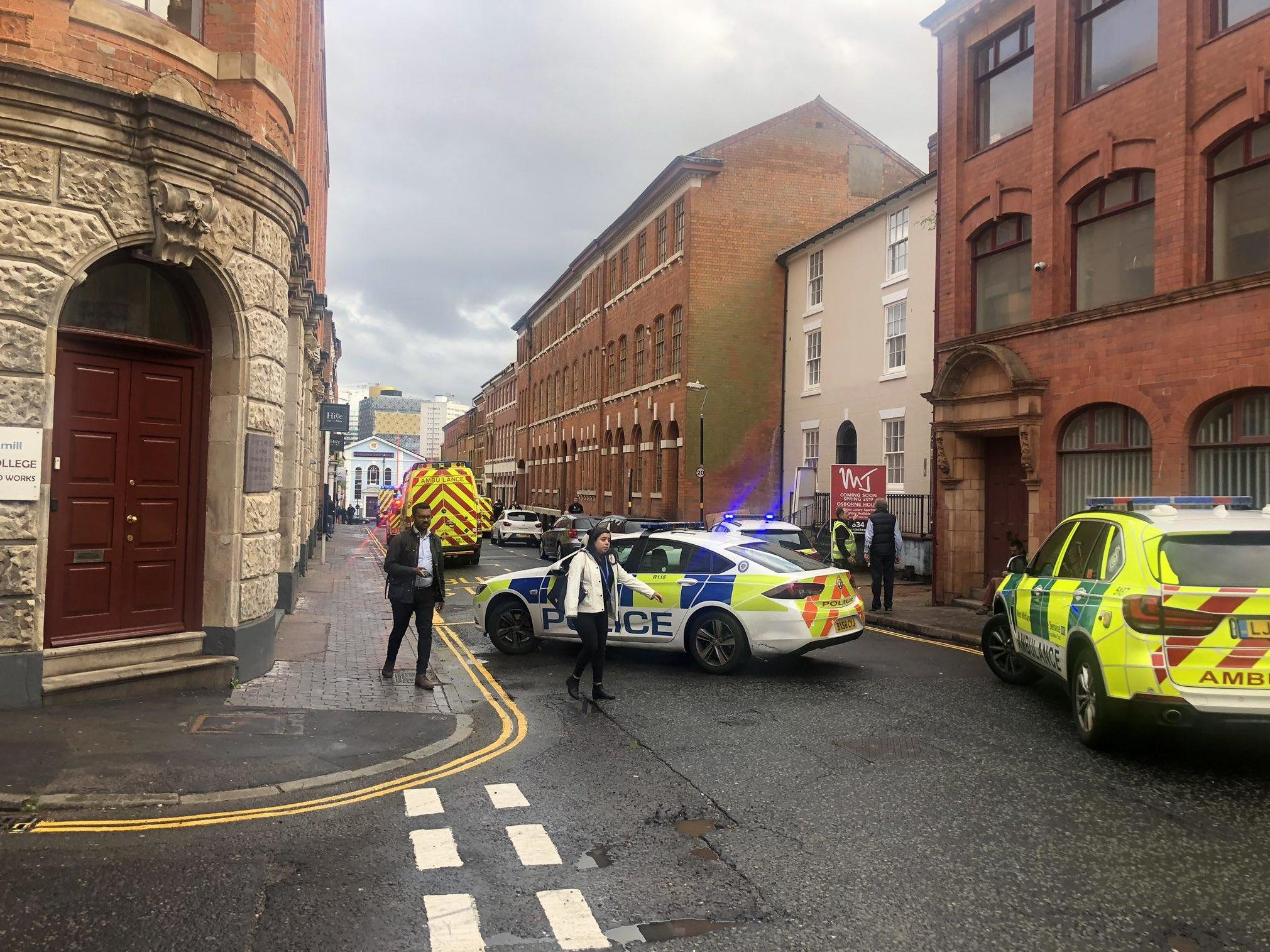 Birmingham building collapse: At least one injured in 'major incident' in city's Jewellery Quarter