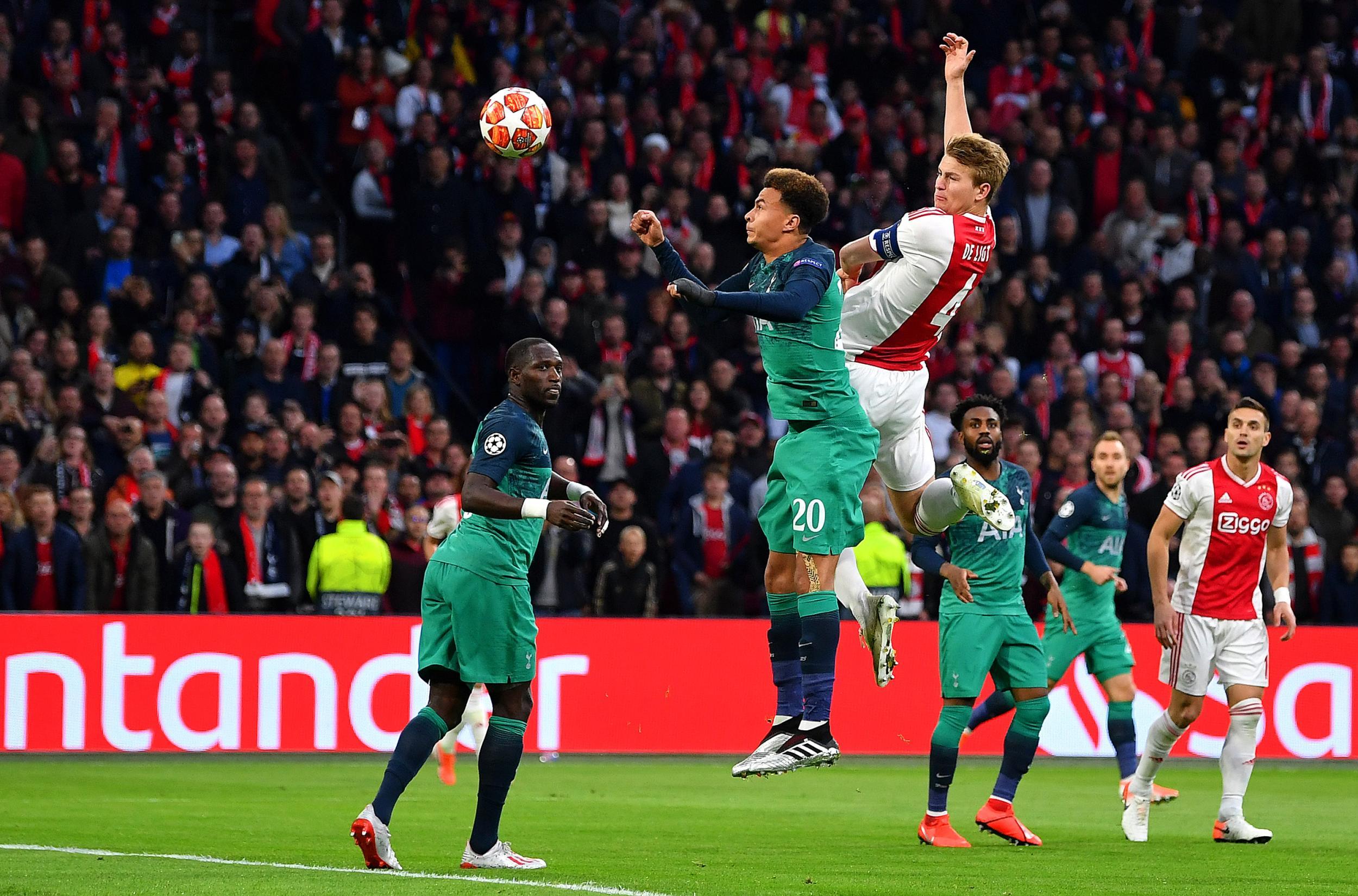 Matthijs De Ligt goal: Watch captain put Ajax in control against Tottenham in Champions League semi-final