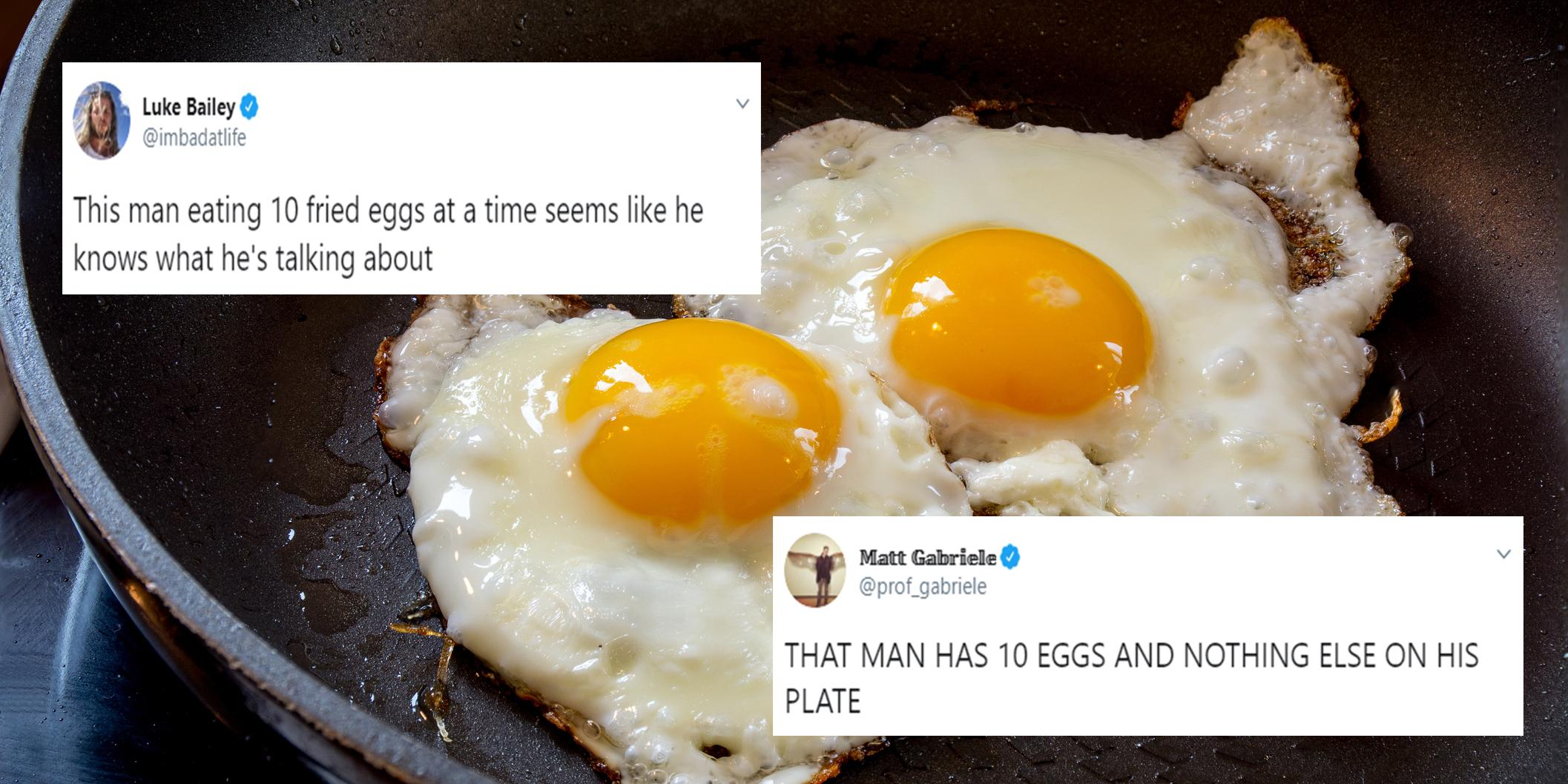 Fox News interview Trump supporter eating 10 eggs for breakfast and people can't handle it