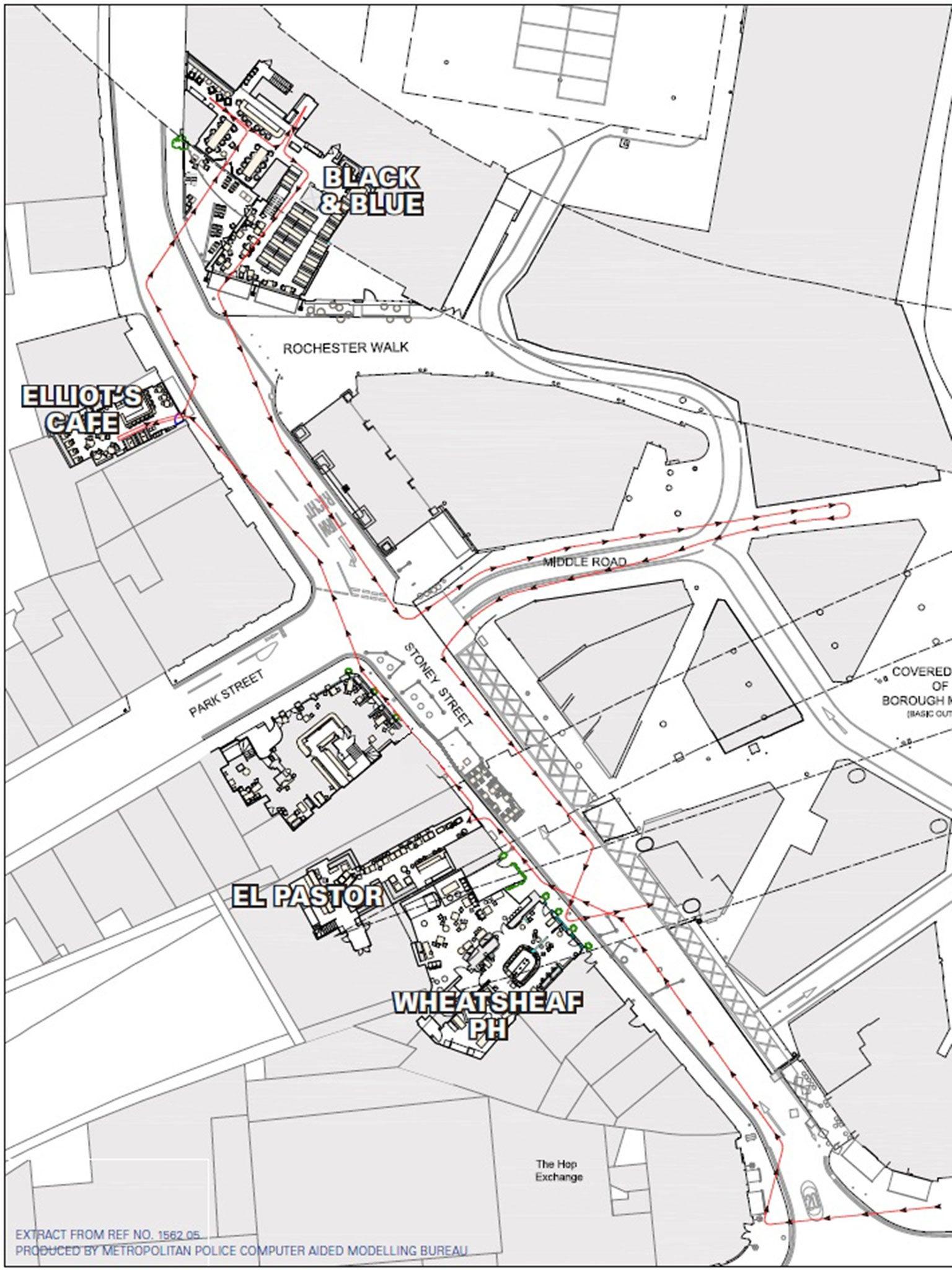 Basic Map Of London.London Bridge Attacker S Family Took Away His Passport Because Of