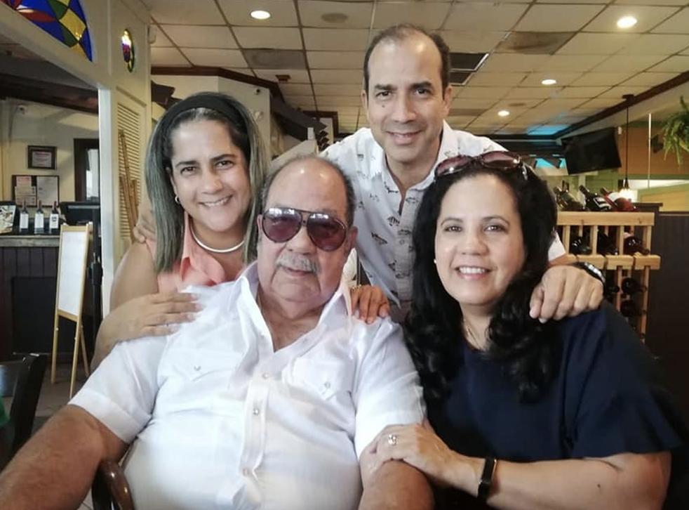 Bascaro with his family (Pic: Free a Cuban Hero/Facebook)
