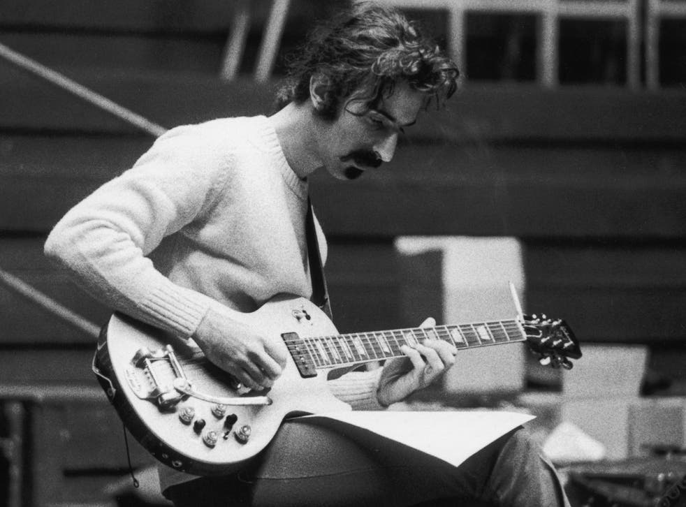 Zappa rehearsing for a concert at the Royal Albert Hall during his European tour in June 1969
