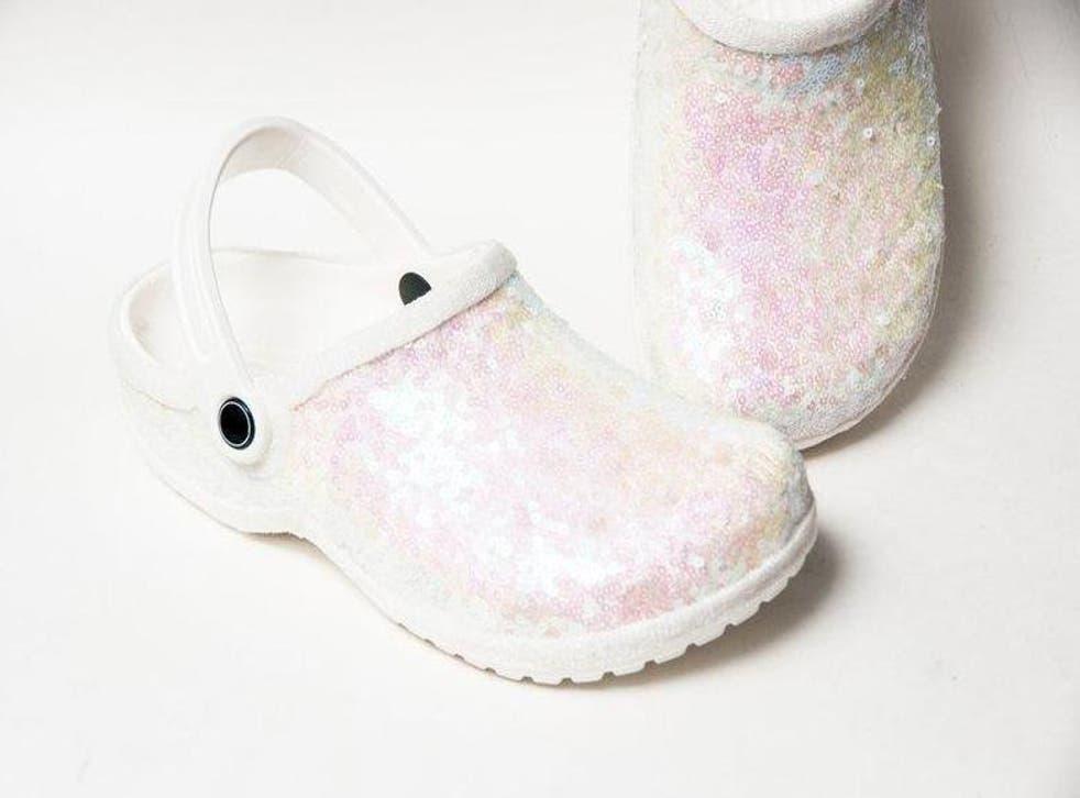 You can buy bridal Crocs on Etsy (Etsy / Princess Pumps)