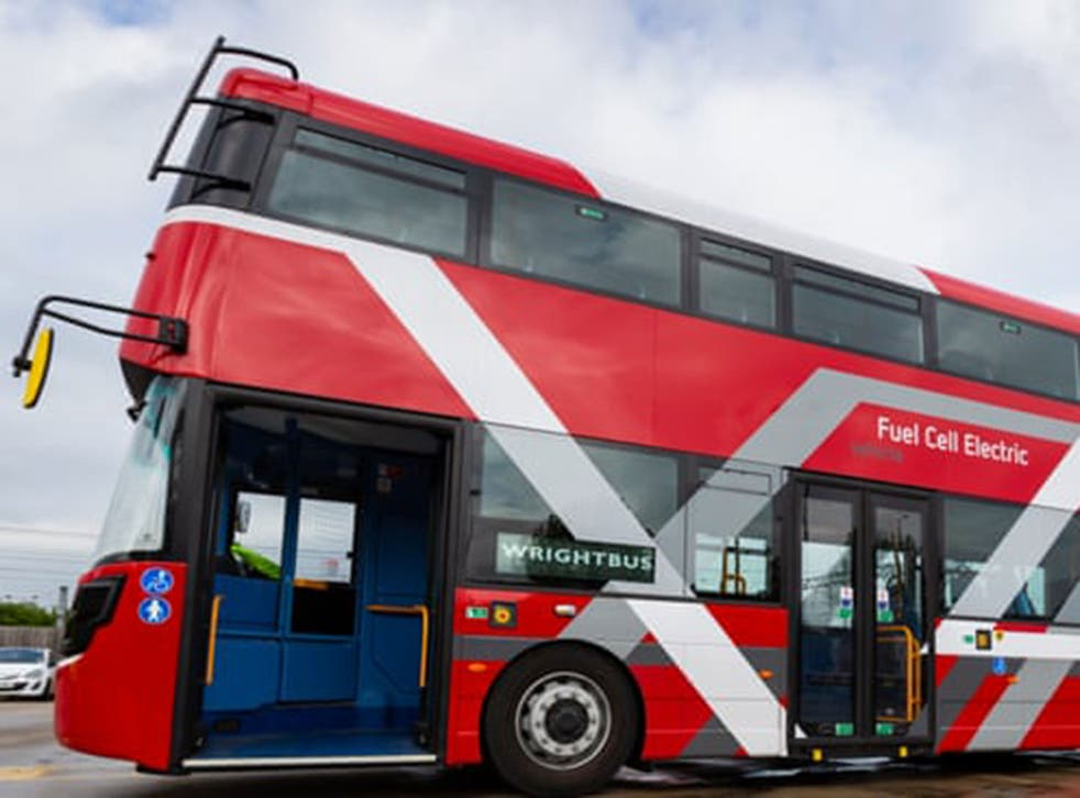 The Wrightbus double-decker hydrogen bus which will hit London's streets next year