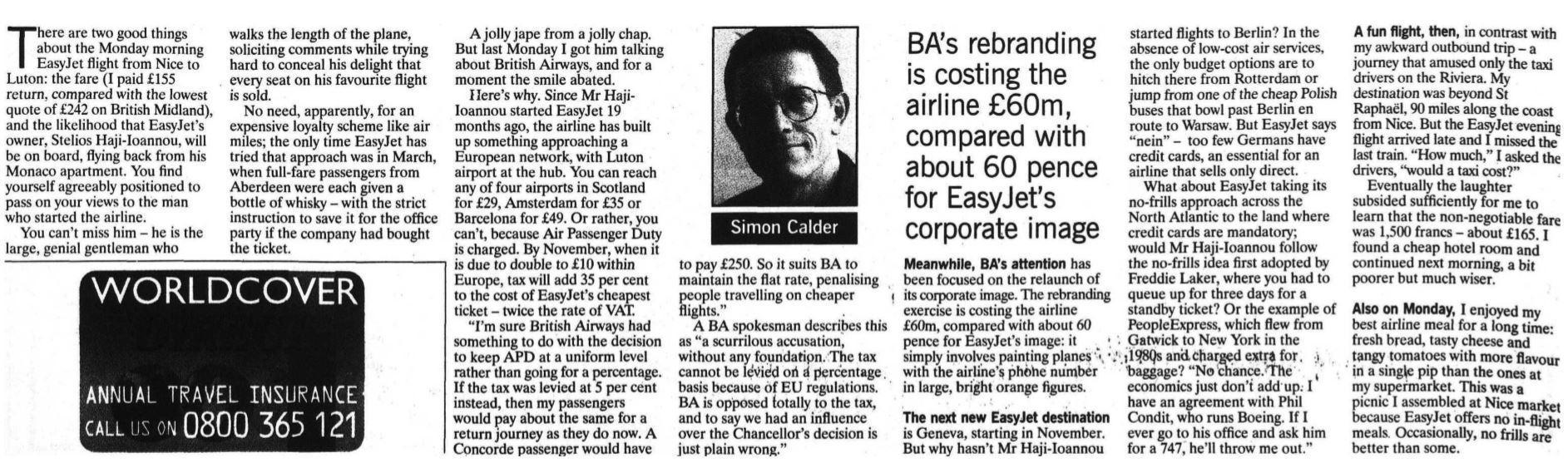 Simon Calder at 25: The ultimate travel timeline, from 1994