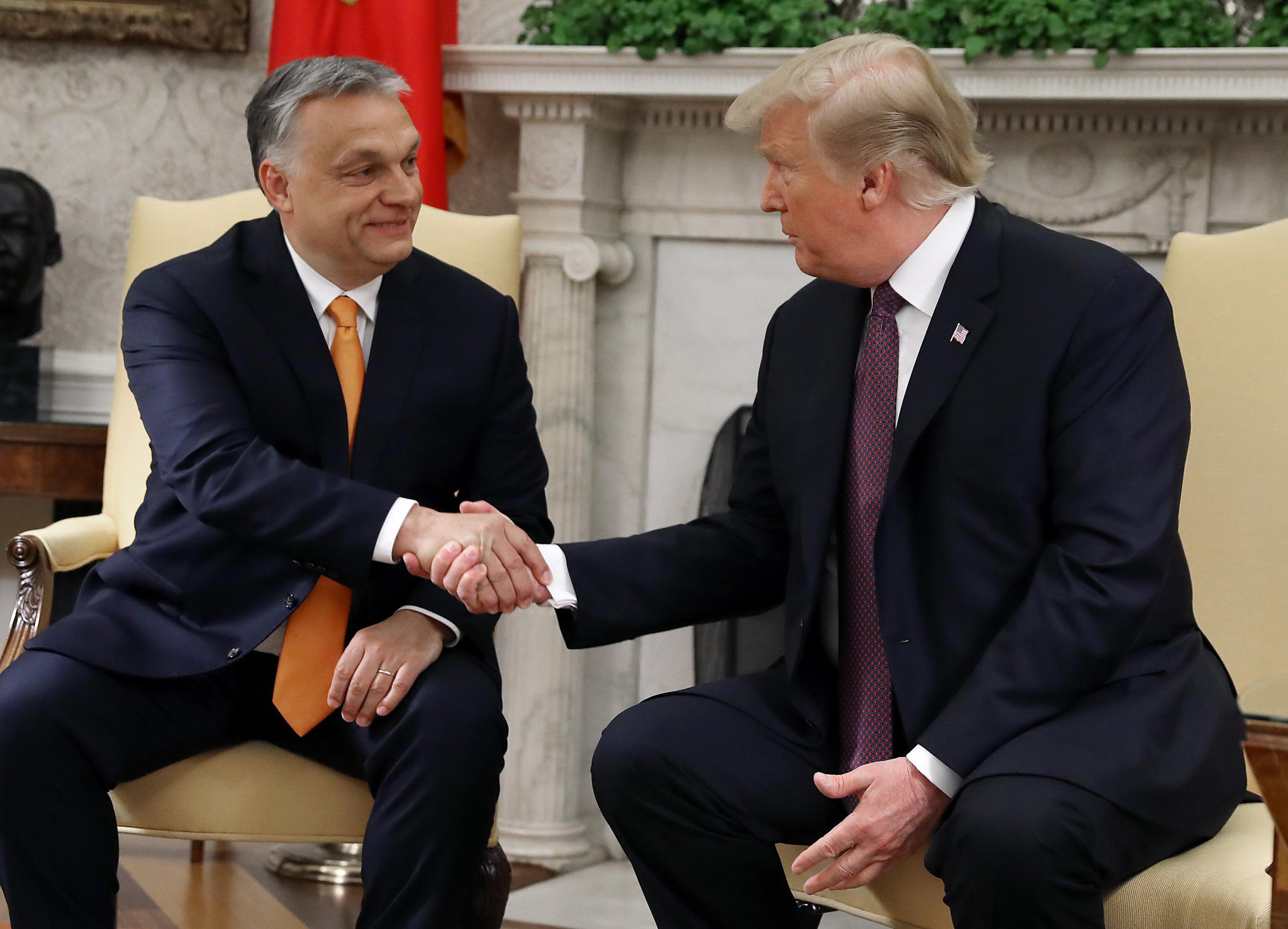 Trump says Orban doing 'tremendous job' in Hungary during White House visit despite concerns of illiberal democracy