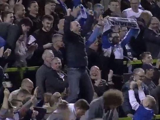 Mike Dean celebration: Watch the Premier League referee lose his mind as Tranmere reach League Two play-off final