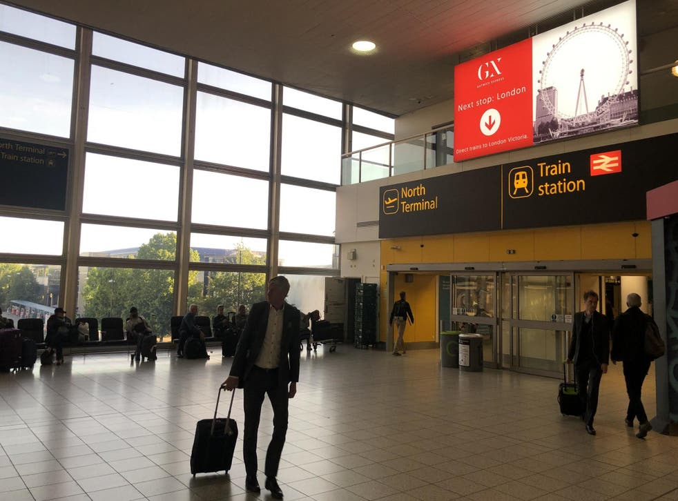 Going places: Gatwick airport on the first morning under new ownership