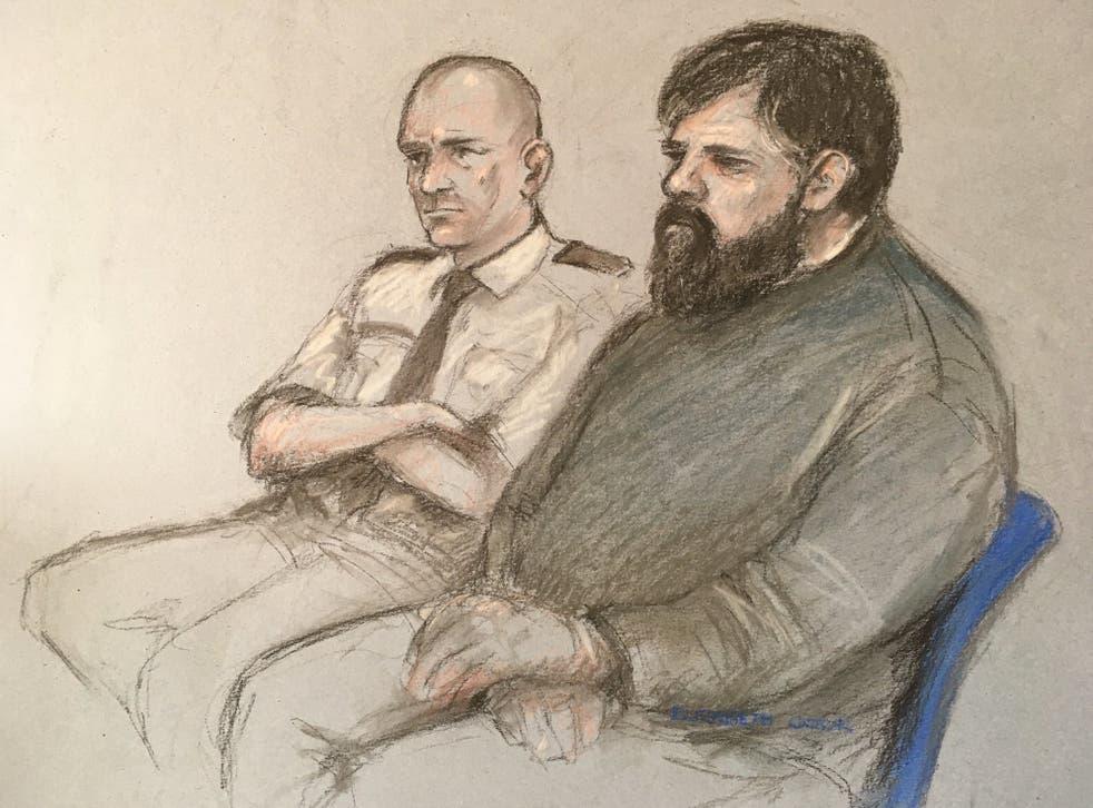 A sketch of paedophile accuser Carl Beech