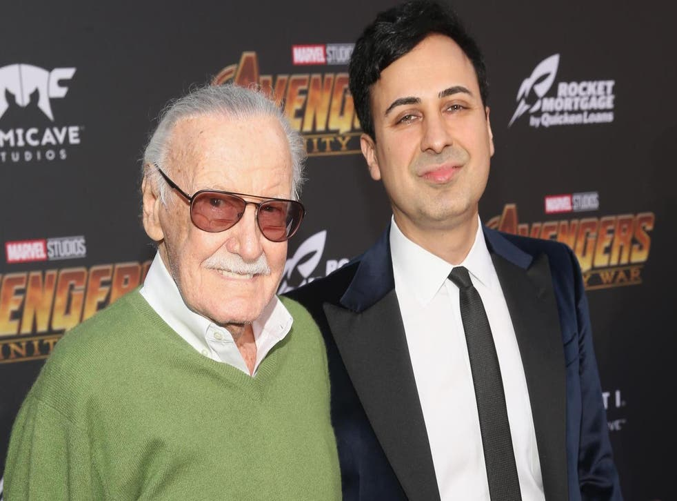 Stan Lee and Keya Morgan attends the Los Angeles Global Premiere for Marvel Studios' Avengers: Infinity War on 23 April, 2018 in Hollywood, California.