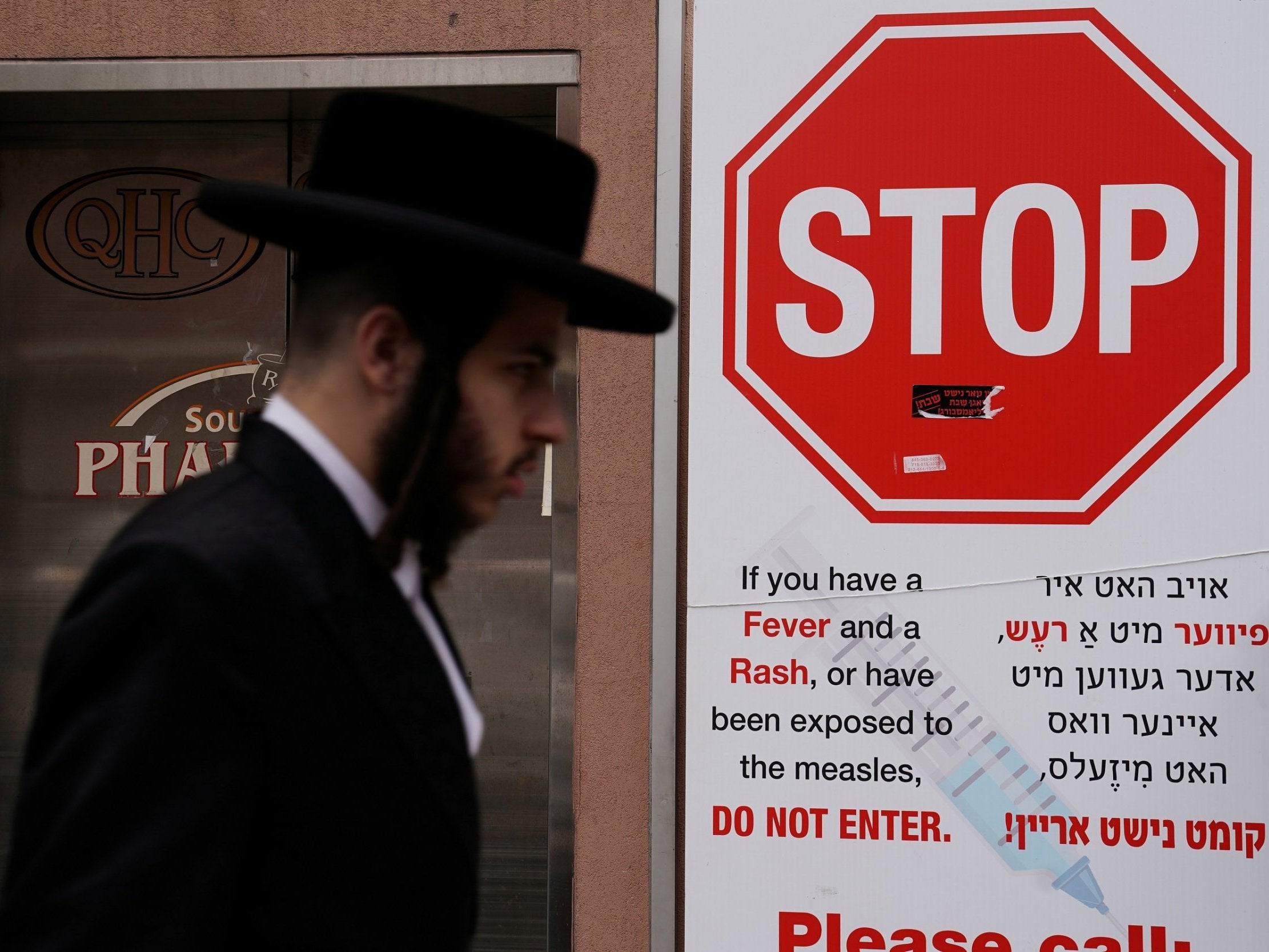 Anti-vaccine rally in New York attracts hundreds of Orthodox