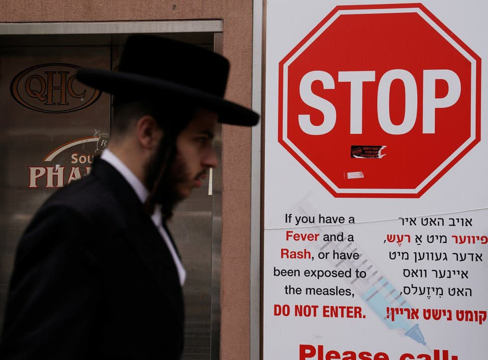 There has been an unusual outbreak of measles among Jews in New York