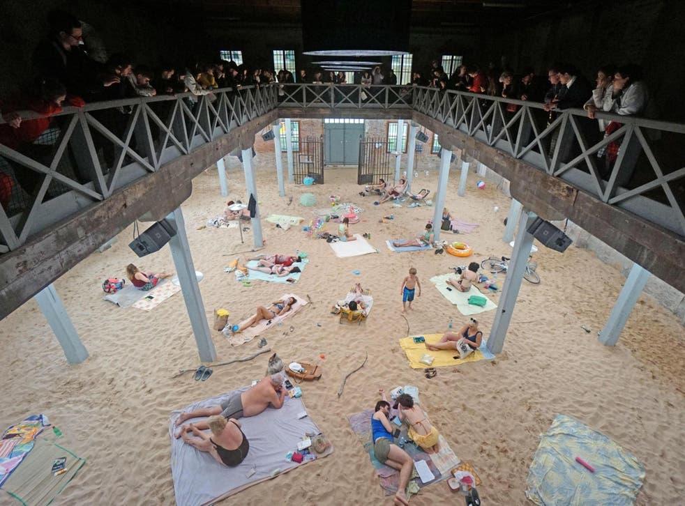 The Lithuanian Pavilion, 'Sun & Sea (Marina)' of artists Lina Lapelyte, Vaiva Grainyte and Rugile Narzdziukaite
