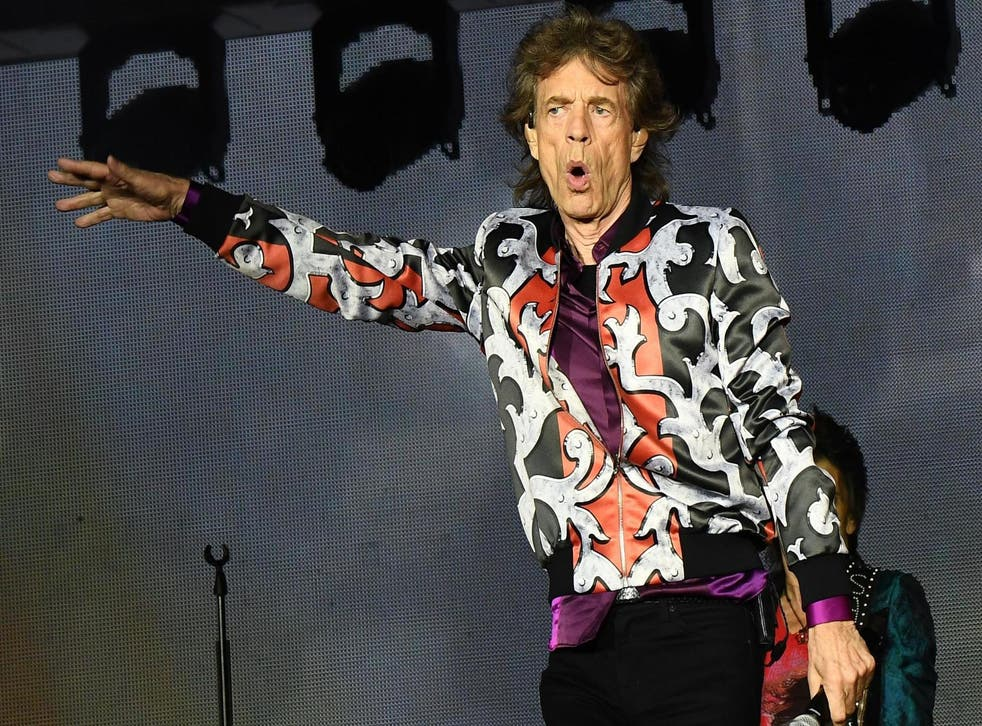 Mick Jagger performs during a concert at The Velodrome Stadium in Marseille on 26 June, 2018, as part of the Rolling Stones' No Filter tour.