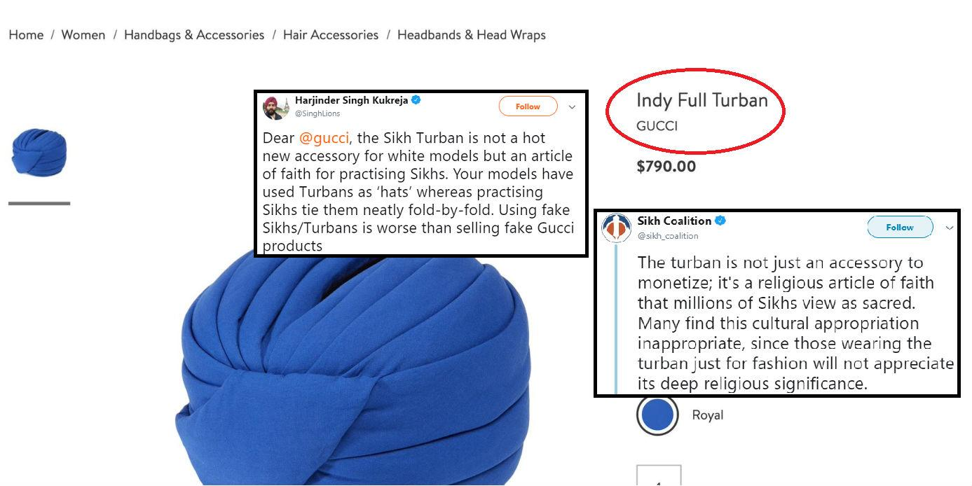 17431fc74 Gucci unveiled $800 'Indy Turban' and people are calling it cultural ...
